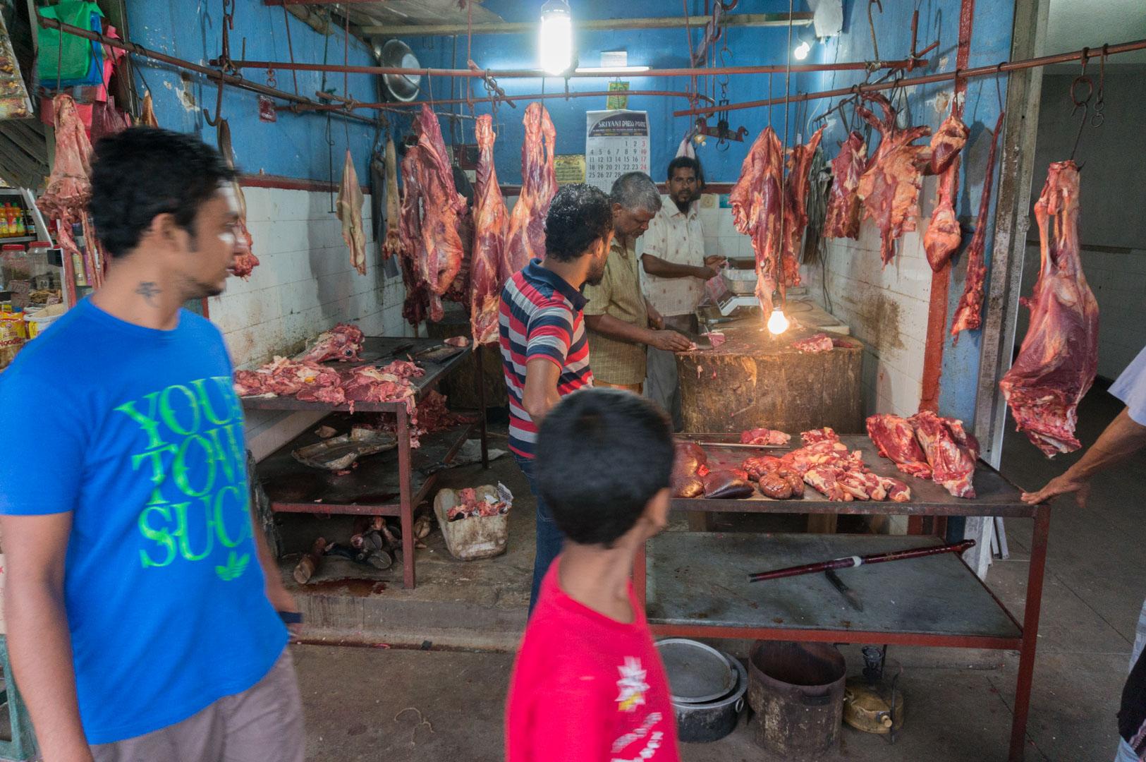Abendessen am Kandy Kleinmarkt