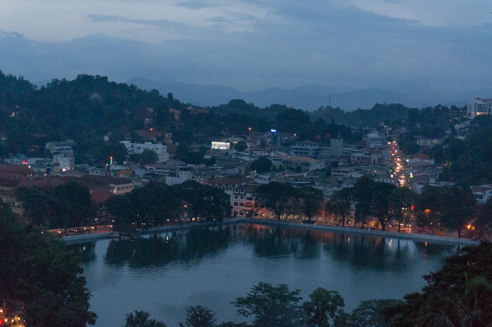 Aussicht auf Kandy