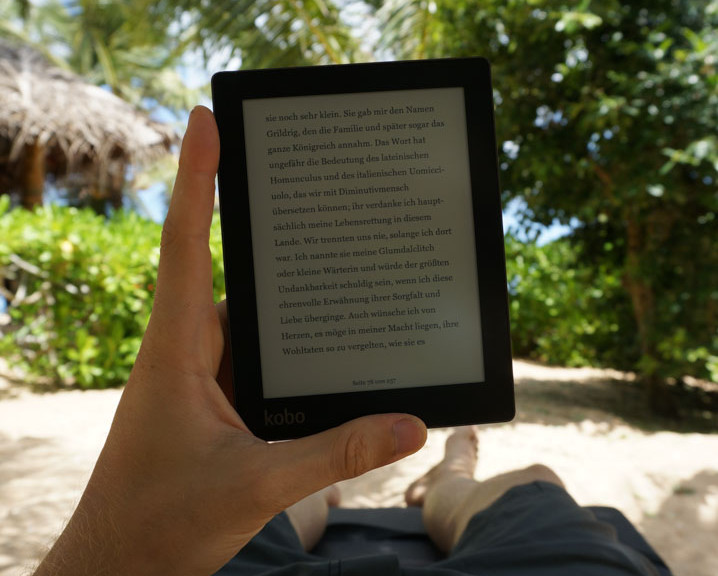 Backpacking Ebook Reader