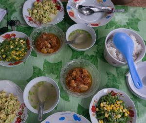 Chickchickencurry, Gemüse und Reis