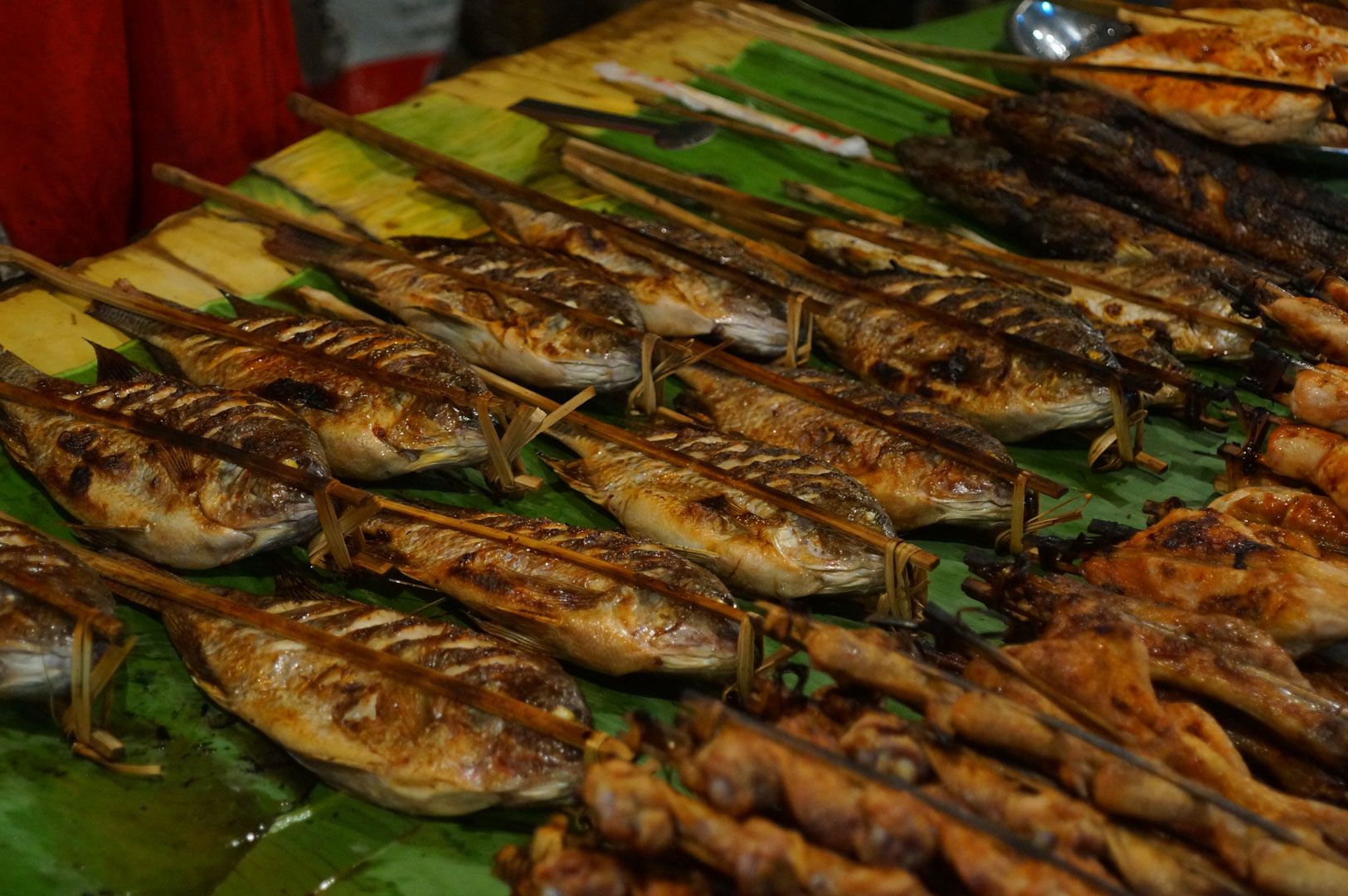 Fisch am Nachtmarkt Luang Prabang