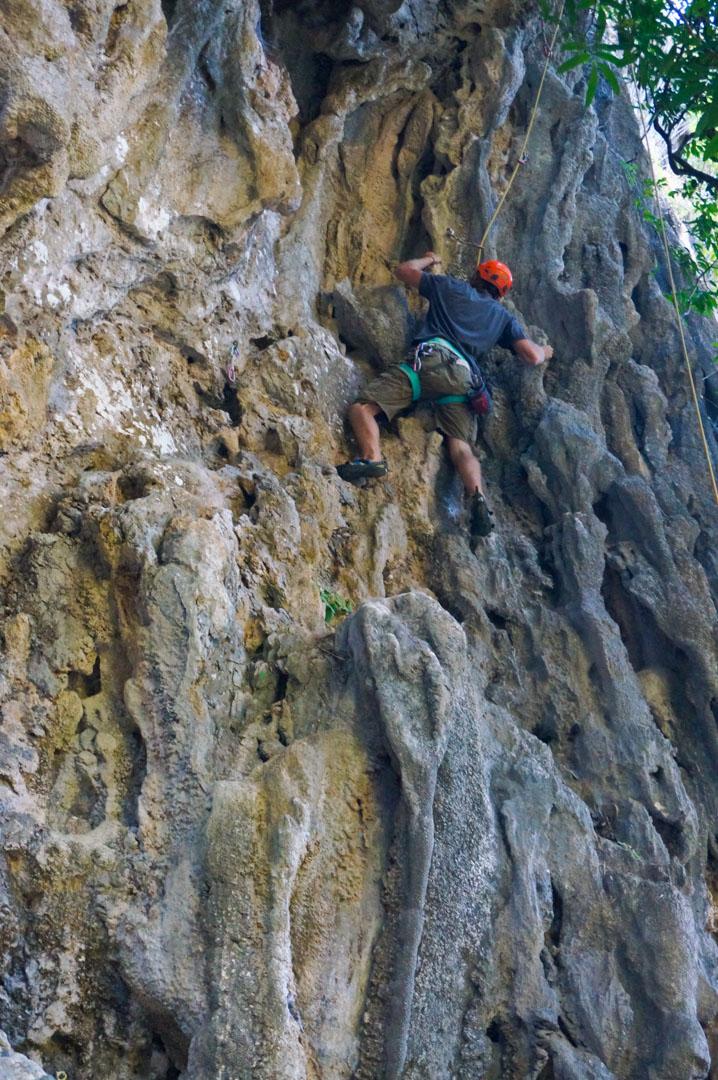 Patrick und Lisa am klettern