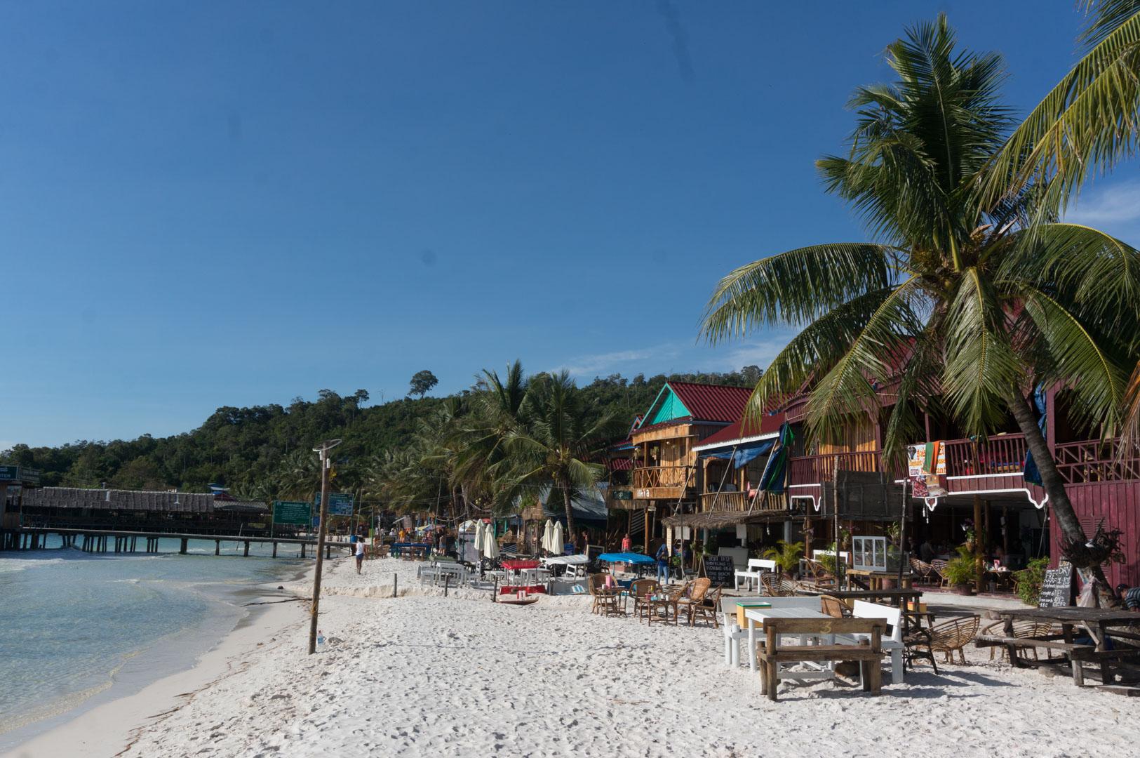 Koh Rong Hauptstrand Main Beach