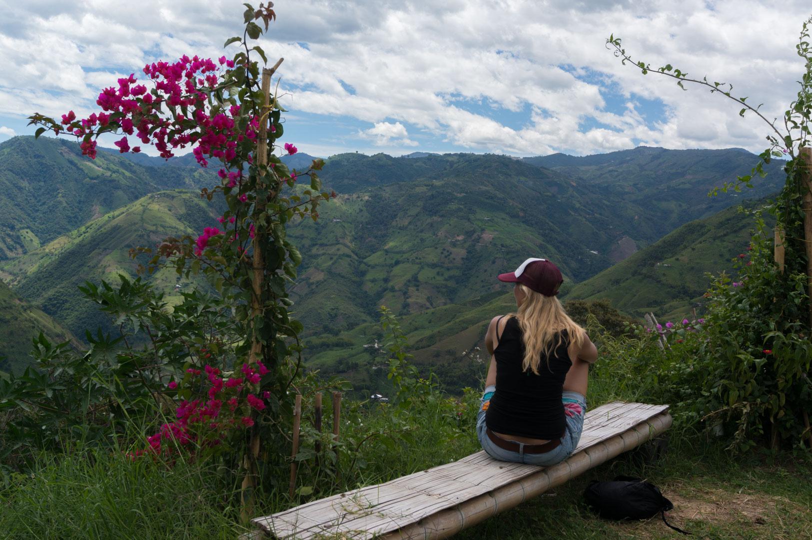 Salamina Aussicht Andenhochland