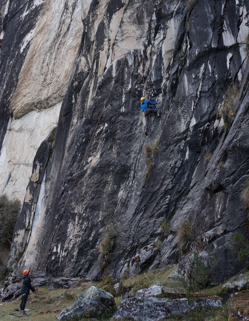 Klettern LLava Vallay