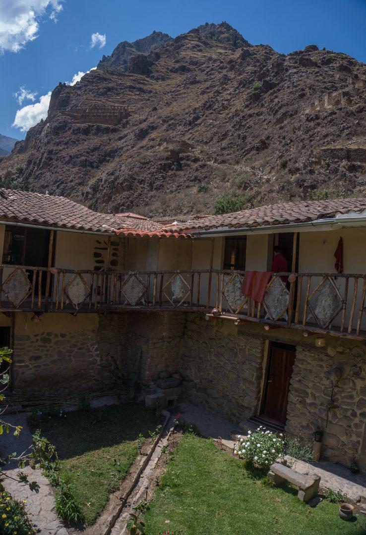 Aussicht aus unserem typischen Inka Haus ca. 500 Jahre alt